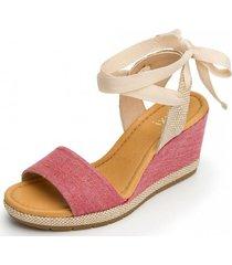 sandalia casual xilitla rosa flexi