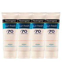 neutrogena kit - protetor solar fps70 neutrogena sun fresh x4 kit