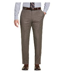 reserve collection tailored fit flat front micro tweed dress pants clearance by jos. a. bank