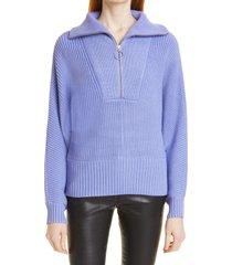 women's staud kirby half-zip sweater, size x-small - blue