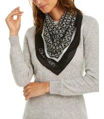calvin klein chain-print chiffon bandana square scarf
