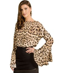 blusa animal print alphorria a.cult