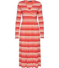 alina, 623 light jersey jurk knielengte rood stine goya