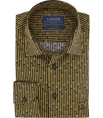 overhemd ledub geel motief modern fit
