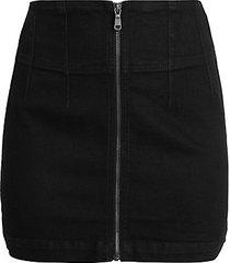 virgo zip mini skirt