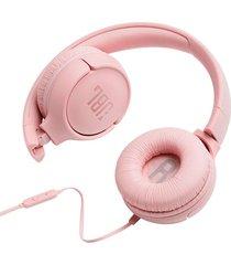 audifonos jbl tune500 rosado manos libres liviano