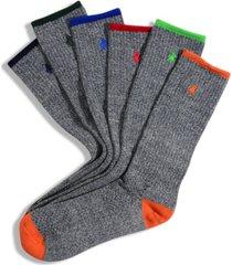 polo ralph lauren men's socks, athletic crew 6 pack