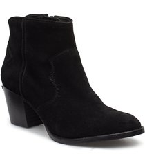molly suede shoes boots ankle boots ankle boots with heel svart zadig & voltaire