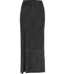 charlinn knälång kjol svart mbym