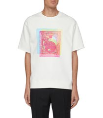 abstract painting graphic print t-shirt