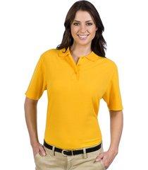 otto ladies' 5.6 oz. pique knit sport shirts gold (s)