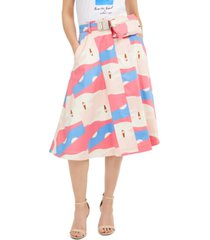 marella belted a-line skirt