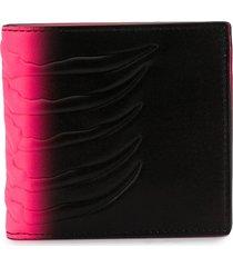 alexander mcqueen rib-cage billfold wallet - black