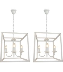2 pendentes lamp show donna branco metal bivolt