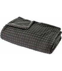 koc pled na łóżko koko szary 125x150 cm