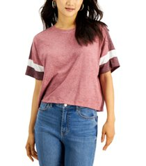 hippie rose juniors' colorblocked t-shirt