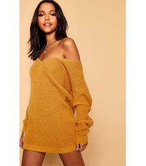 v neck sweater mini dress, mustard