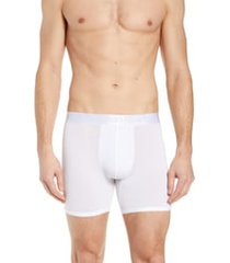 men's calvin klein ultrasoft stretch modal boxer briefs, size x-large - white