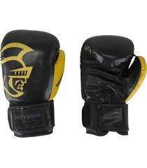 luvas de boxe pretorian black line - 16 oz - adulto - preto/amarelo