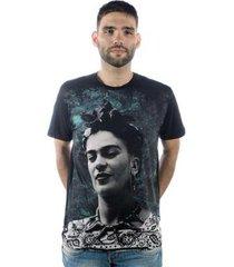 camiseta mxc brasil frida kahlo - masculino