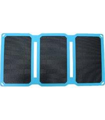 15w cargador solar monocristalino de silicona plegable banco de alimentación del panel solar