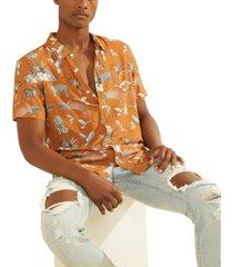 guess men's animal kingdom shirt