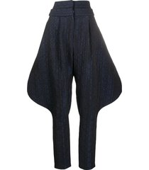 chalayan aztec riding trousers - blue