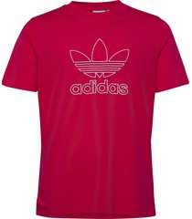 trefoil tee out t-shirts short-sleeved röd adidas originals