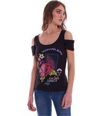 trussardi jeans t-shirt printed slim fit black