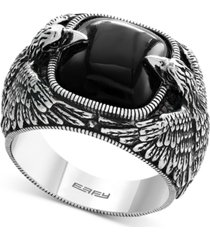effy men's onyx eagle ring (10 ct. t.w.) in sterling silver