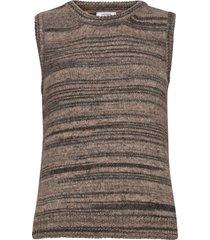 khloe waistcoat vests knitted vests brun nué notes