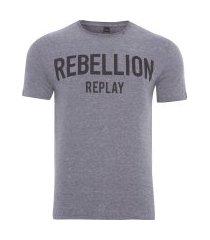 camiseta masculina rebellion - cinza