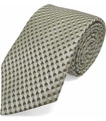 gravata concetto seda semi slim verde claro - verde - masculino - dafiti