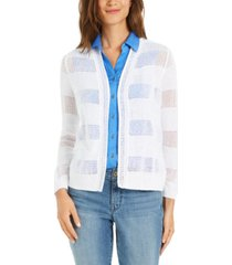 charter club petite open-front pointelle cardigan, created for macy's