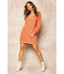 v neck sweater mini dress, apricot