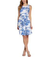 adrianna papell printed dress