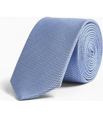 mens blue textured plain tie