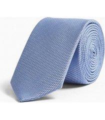 mens blue textured plain tie