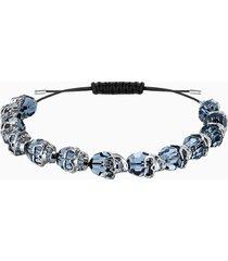 braccialetto taddeo, azzurro, placcatura rutenio