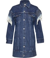 lmc ovrszd ranch dress lmc rig kort klänning blå levi's made & crafted