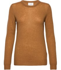 pure cashmere o-neck pullover stickad tröja brun sparkz copenhagen