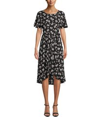 anne klein split-sleeve a-line dress