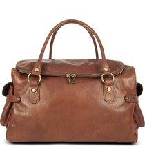 robe di firenze designer men's bags, large brown pebbled italian leather carryall bag