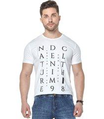 camiseta osmoze 07 s/ ribana 110112775 branco