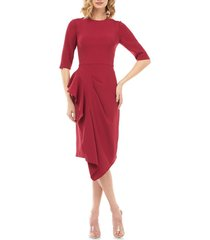 women's kay unger mason ruffle cocktail dress