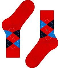 burlington socks king soft combed socks | red navy | 21020-8001