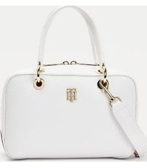 tommy hilfiger women's stripe mini duffle bag bright white -