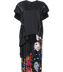 carven mid-length t-shirt dress - black