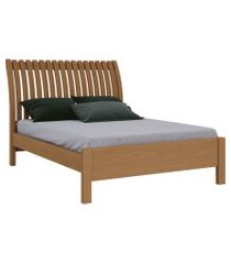 cama casal arezo iii 1,40 freijó móveis fazzio marrom
