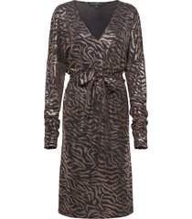 dress knälång klänning brun ilse jacobsen